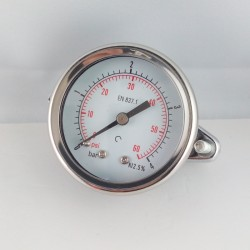 Dry pressure gauge 4 Bar diameter dn 50mm u-clamp