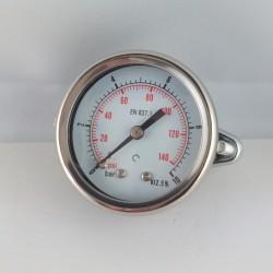 Dry pressure gauge 10 Bar diameter dn 50mm u-clamp
