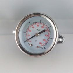 Dry pressure gauge 12 Bar diameter dn 50mm u-clamp