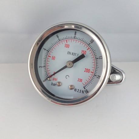 Dry pressure gauge 16 Bar diameter dn 50mm u-clamp