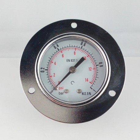 Dry pressure gauge 1 Bar diameter dn 50mm front flange