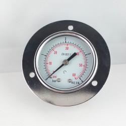 Manometro 4 Bar diametro dn 50mm con flangia