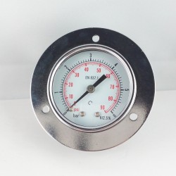 Dry pressure gauge 6 Bar diameter dn 50mm front flange