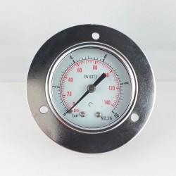 Dry pressure gauge 10 Bar diameter dn 50mm front flange