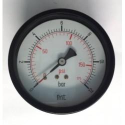 "Manometro 12 Bar diametro dn 100mm posteriore 1/2""Gas"