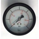 "Dry pressure gauge 12 Bar diameter dn 100mm back 1/2""Bsp"