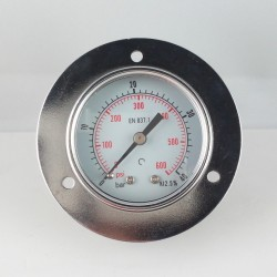 Dry pressure gauge 40 Bar diameter dn 50mm front flange