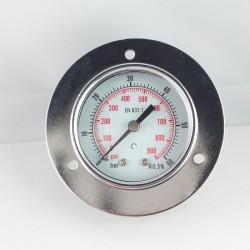 Manometro 60 Bar diametro dn 50mm con flangia