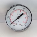 Dry pressure gauge 1 Bar diameter dn 63mm back
