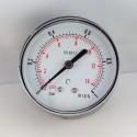 Dry pressure gauge 1 Bar diameter dn 63mm back