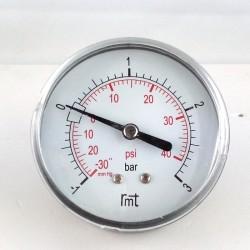 Manovuotometro -1+3 Bar diametro dn 63mm posteriore