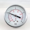 Dry vacuum gauge -1+3 Bar diameter dn 63mm back