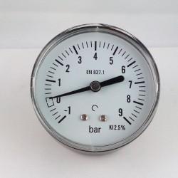 Manovuotometro -1+9 Bar diametro dn 63mm posteriore