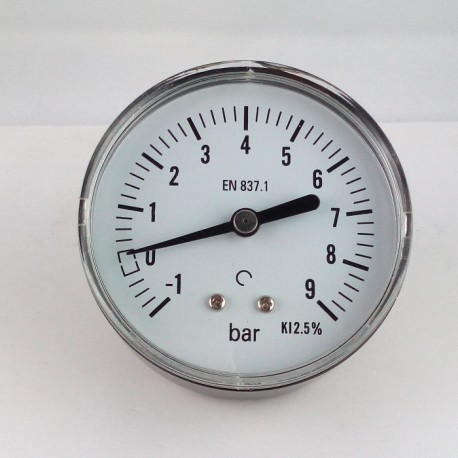 Dry vacuum gauge -1+9 Bar diameter dn 63mm back