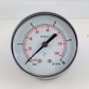 Dry pressure gauge 10 Bar diameter dn 63mm back