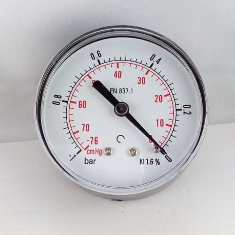 Dry vacuum gauge -1 Bar diameter dn 63mm back