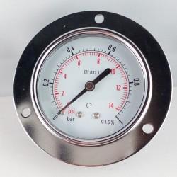 Dry pressure gauge 1 Bar diameter dn 63mm front flange