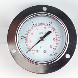 Dry pressure gauge 2,5 Bar diameter dn 63mm front flange