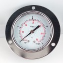 Dry pressure gauge 4 Bar diameter dn 63mm front flange