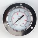 Dry pressure gauge 16 Bar diameter dn 63mm front flange