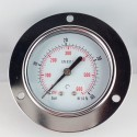 Dry pressure gauge 40 Bar diameter dn 63mm front flange