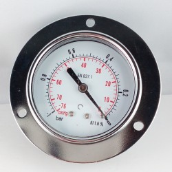 Dry vacuum gauge -1 Bar diameter dn 63mm front flange