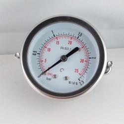 Dry pressure gauge 2,5 Bar diameter dn 63mm u-clamp