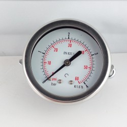 Dry pressure gauge 4 Bar diameter dn 63mm u-clamp