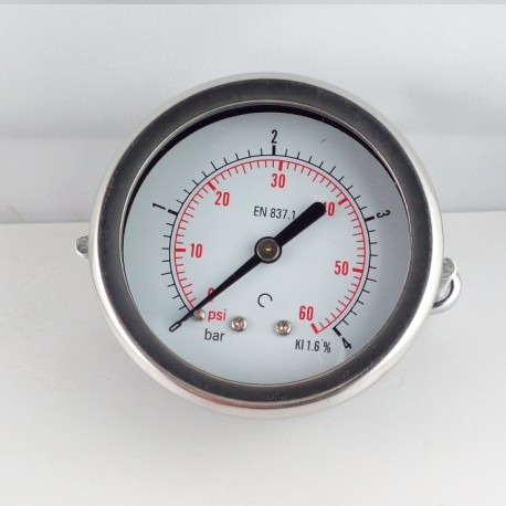 Dry pressure gauge 4 Bar diameter dn 63mm u-clamp