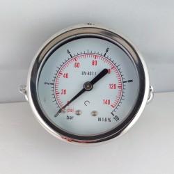 Dry pressure gauge 10 Bar diameter dn 63mm u-clamp
