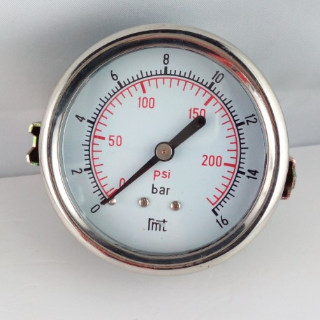 Dry pressure gauge 16 Bar diameter dn 63mm u-clamp