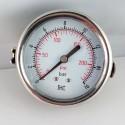 Dry pressure gauge 16 Bar diameter dn 63mm u-clamp