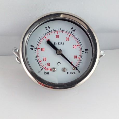 Dry vacuum gauge -1 Bar diameter dn 63mm u-clamp