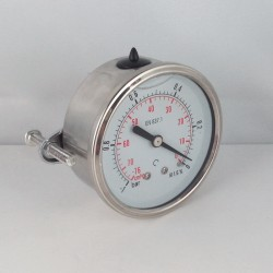 Vuotometro glicerina -1 Bar diametro dn 50mm staffa