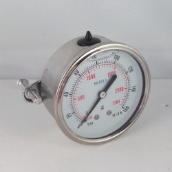 Manometro glicerina 160 Bar diametro dn 50mm staffa