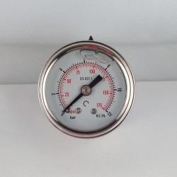 Manometro glicerina 12 Bar diametro dn 40mm posteriore