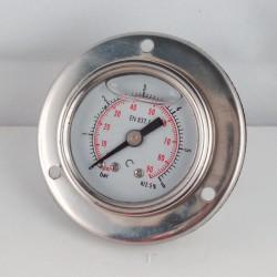 Glycerine filled pressure gauge 6 Bar flange diameter dn 40mm