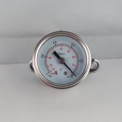 Glycerine filled vacuum gauge -1 Bar diameter dn 40mm u-clamp