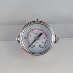 Glycerine filled pressure gauge 2,5 Bar diameter dn 40mm u-clamp