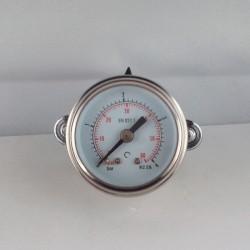 Glycerine filled pressure gauge 4 Bar diameter dn 40mm u-clamp