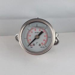 Glycerine filled pressure gauge 6 Bar diameter dn 40mm u-clamp