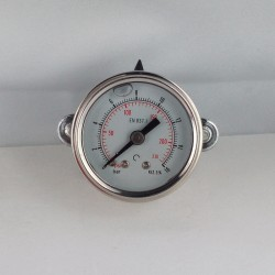 Glycerine filled pressure gauge 16 Bar diameter dn 40mm u-clamp