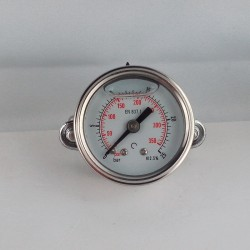 Glycerine filled pressure gauge 25 Bar diameter dn 40mm u-clamp