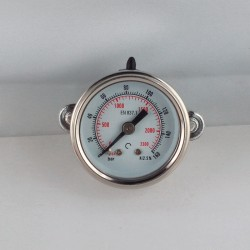 Glycerine filled pressure gauge 160 Bar diameter dn 40mm u-clamp