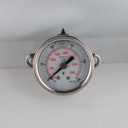 Glycerine filled pressure gauge 250 Bar diameter dn 40mm u-clamp
