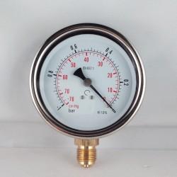 Vuotometro glicerina -1 Bar diametro dn 100mm radiale