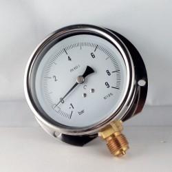 Manovuotometro glicerina -1+9 Bar flangia a parete dn 100mm