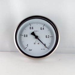 Glycerine filled vacuum -1 Bar gauge diameter dn 100mm back