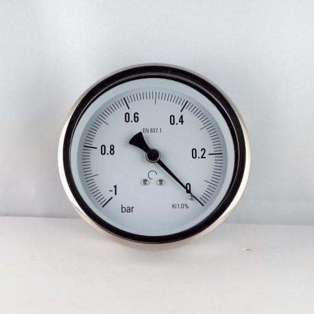 Glycerine filled vacuum -1 Bar gauge diameter dn 100mm back