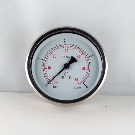 Glycerine filled pressure 4 Bar gauge diameter dn 100mm back